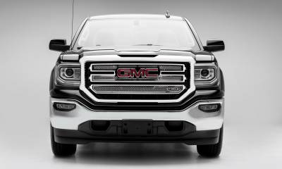 T-REX Grilles - 2016-2018 Sierra 1500 SLT Upper Class Series Main Grille, Polished, 2 Pc, Overlay - PN #54215 - Image 4
