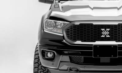 T-REX Grilles - 2019-2021 Ford Ranger Laser X Grille, No Studs, 1 Pc, Replacement with Trim and X-Metal logo - PN #6315824 - Image 2