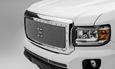 T-REX Grilles - 2015-2020 GMC Canyon X-Metal Grille, Polished, 1 Pc, Insert, Chrome Studs - PN #6713710 - Image 2