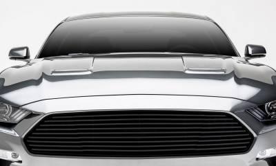T-REX Grilles - 2018-2021 Mustang GT Billet Grille, Black, 1 Pc, Overlay - PN #6215501 - Image 1