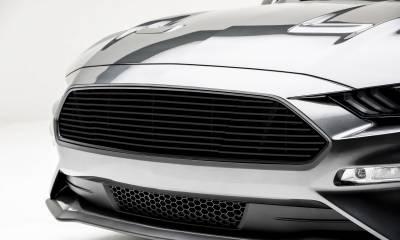 T-REX Grilles - 2018-2021 Mustang GT Billet Grille, Black, 1 Pc, Overlay - PN #6215501 - Image 2