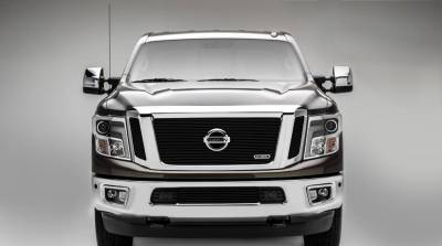 T-REX Grilles - 2016-2019 Titan Billet Grille, Black, 3 Pc, Insert, Fits Vehicles with Camera - PN #20785B - Image 1