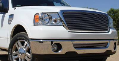 T-REX Grilles - 2004-2008 F-150, 05-08 Mark LT Billet Grille, Polished, 1 Pc, Insert - PN #21556