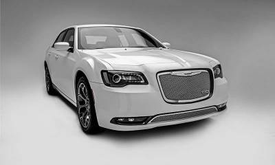 T-REX Grilles - 2015-2018 Chrysler 300 Upper Class Series Main Grille, Polished, 1 Pc, Replacement - PN #54436 - Image 2