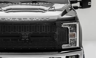 T-REX Grilles - 2017-2019 Super Duty Stealth Laser X Grille, Black, 1 Pc, Replacement, Black Studs, Fits Vehicles with Camera - PN #7715371-BR - Image 3