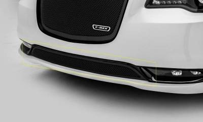 T-REX Grilles - 2015-2018 Chrysler 300 Upper Class Series Bumper Grille, Black, 1 Pc, Overlay, Only fits models without adaptive cruise control - PN #52436 - Image 1