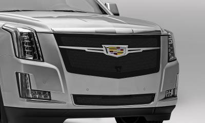 T-REX Grilles - 2015-2020 Escalade Upper Class Grille, Black with Brushed Center Trim Piece, 1 Pc, Replacement, Fits Vehicles with Camera - PN #51189 - Image 4