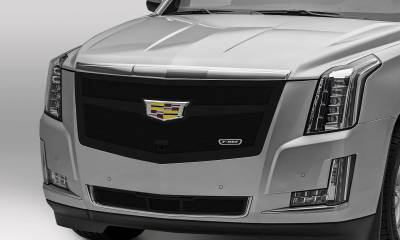 T-REX Grilles - 2015i-2020 Escalade Upper Class Series Main Grille, Black, 1 Pc, Replacement, Fits Vehicles with Camera - PN #51181 - Image 1
