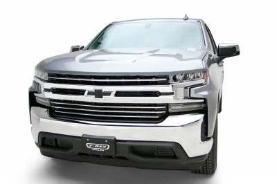 T-REX Grilles - 2019-2021 Silverado 1500 Trail Boss, RST, LT Round Billet Grille, Horizontal Round, Polished, 4 Pc, Overlay, Does Not Fit Vehicles with Camera - PN #6211232 - Image 1