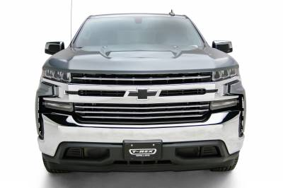T-REX Grilles - 2019-2021 Silverado 1500 Trail Boss, RST, LT Round Billet Grille, Horizontal Round, Polished, 4 Pc, Overlay, Does Not Fit Vehicles with Camera - PN #6211232 - Image 2