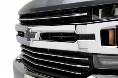 T-REX Grilles - 2019-2021 Silverado 1500 Trail Boss, RST, LT Round Billet Grille, Horizontal Round, Polished, 4 Pc, Overlay, Does Not Fit Vehicles with Camera - PN #6211232 - Image 4