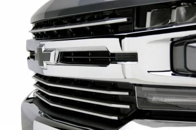T-REX Grilles - 2019-2021 Silverado 1500 Trail Boss, RST, LT Round Billet Grille, Horizontal Round, Brushed, 4 Pc, Overlay, Does Not Fit Vehicles with Camera - PN #6211233 - Image 12