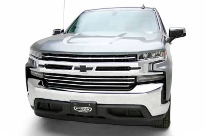 T-REX Grilles - 2019-2021 Silverado 1500 Trail Boss, RST, LT Round Billet Grille, Horizontal Round, Brushed, 4 Pc, Overlay, Does Not Fit Vehicles with Camera - PN #6211233 - Image 13