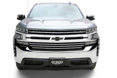 T-REX Grilles - 2019-2021 Silverado 1500 Trail Boss, RST, LT Round Billet Grille, Horizontal Round, Brushed, 4 Pc, Overlay, Does Not Fit Vehicles with Camera - PN #6211233 - Image 14