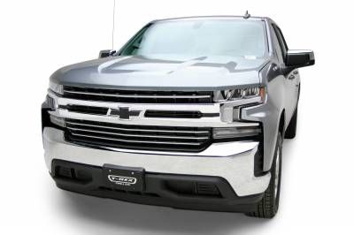T-REX Grilles - 2019-2021 Silverado 1500 Trail Boss, RST, LT Round Billet Grille, Horizontal Round, Silver, 4 Pc, Overlay, Does Not Fit Vehicles with Camera - PN #6211236 - Image 7