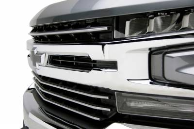 T-REX Grilles - 2019-2021 Silverado 1500 Trail Boss, RST, LT Round Billet Grille, Horizontal Round, Silver, 4 Pc, Overlay, Does Not Fit Vehicles with Camera - PN #6211236 - Image 9