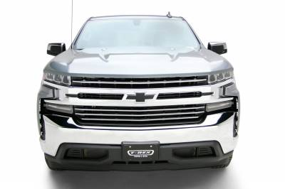 T-REX Grilles - 2019-2021 Silverado 1500 Trail Boss, RST, LT Round Billet Grille, Horizontal Round, Silver, 4 Pc, Overlay, Does Not Fit Vehicles with Camera - PN #6211236 - Image 10