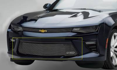 T-REX Grilles - 2016-2018 Camaro Billet Bumper Grille, Polished, 1 Pc, Overlay, V6 - PN #25033 - Image 1