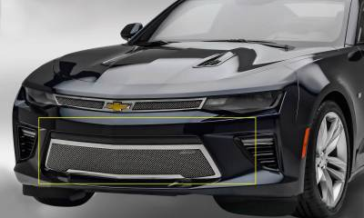 T-REX Grilles - 2016-2018 Camaro Upper Class Series Bumper Grille, Polished, 1 Pc, Overlay, V8 - PN #55036 - Image 1