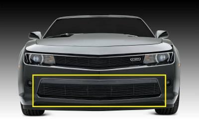 T-REX Grilles - 2014-2015 Camaro Billet Bumper Grille, Black, 1 Pc, Overlay, V6 - PN #25031B - Image 1