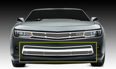 T-REX Grilles - 2014-2015 Camaro Upper Class Series Bumper Grille, Polished, 1 Pc, Overlay, V6 - PN #55031 - Image 1