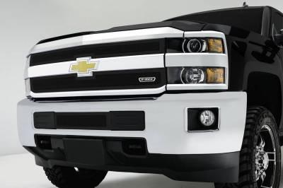 T-REX Grilles - 2015-2019 Silverado 2500, 15-17 3500 Upper Class Series Mesh Bumper Grille, Black, 1 Pc, Overlay - PN #52122 - Image 1