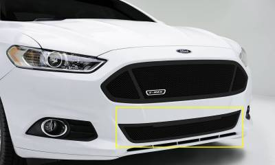 T-REX Grilles - 2013-2015 Ford Fusion Upper Class Series Bumper Grille, Black, 1 Pc, Replacement - PN #52531 - Image 1