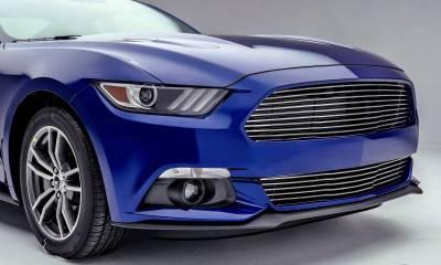 T-REX Grilles - 2015-2017 Mustang GT Laser Billet Bumper Grille, Polished, 1 Pc, Overlay - PN #6225300 - Image 4