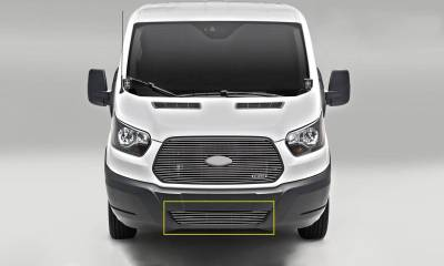 T-REX Grilles - 2016-2018 Ford Transit Billet Bumper Grille, Polished, 1 Pc, Overlay - PN #6255750 - Image 1