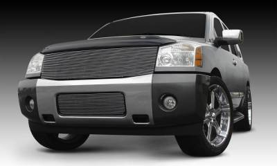 T-REX Grilles - 2004-2007 Armada, 04-14 Titan Billet Grille, Polished, 1 Pc, Replacement - PN #20780