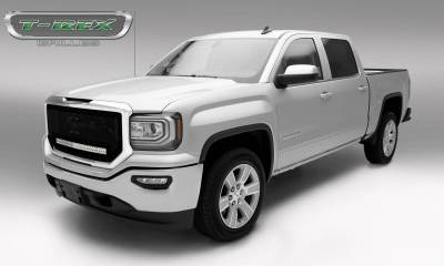 """T-REX Grilles - 2016-2018 Sierra 1500 Stealth Torch Grille, Black, 1 Pc, Insert, Black Studs with (1) 30"""" LED - PN #6312131-BR - Image 2"""