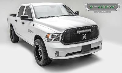 "T-REX Grilles - 2013-2018 Ram 1500 Torch Grille, Black, 1 Pc, Replacement, Chrome Studs with (1) 20"" LED - PN #6314541 - Image 3"