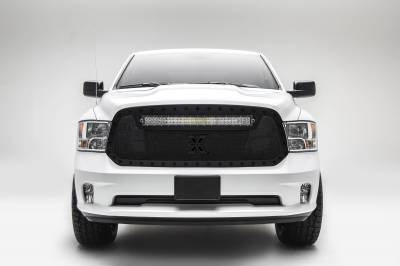 """T-REX Grilles - 2013-2018 Ram 1500 Stealth Torch Grille, Black, 1 Pc, Replacement, Black Studs with (1) 30"""" LED - PN #6314551-BR - Image 2"""