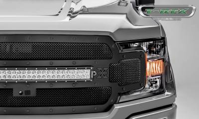 T-REX Grilles - 2018-2020 F-150 Stealth Torch Grille, Black, 1 Pc, Replacement, Black Studs with 30 Inch LED, Fits Vehicles with Camera - PN #6315751-BR - Image 3