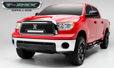 """T-REX Grilles - 2010-2013 Tundra Torch Grille, Black, 1 Pc, Insert, Chrome Studs with (1) 20"""" LED - PN #6319631 - Image 2"""