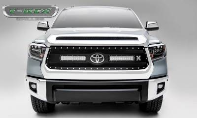 "T-REX Grilles - 2018-2021 Tundra Torch Grille, Black, 1 Pc, Replacement, Chrome Studs with (2) 12"" LEDs, Does Not Fit Vehicles with Camera - PN #6319661 - Image 3"