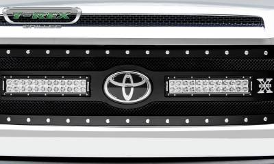 "T-REX Grilles - 2018-2021 Tundra Torch Grille, Black, 1 Pc, Replacement, Chrome Studs with (2) 12"" LEDs, Does Not Fit Vehicles with Camera - PN #6319661 - Image 5"