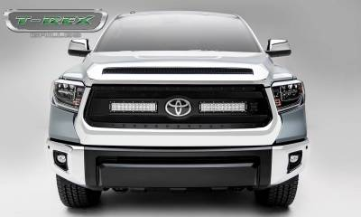 "T-REX Grilles - 2018-2021 Tundra Stealth Torch Grille, Black, 1 Pc, Replacement, Black Studs with (2) 12"" LEDs, Does Not Fit Vehicles with Camera - PN #6319661-BR - Image 2"