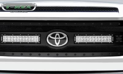 "T-REX Grilles - 2018-2021 Tundra Stealth Torch Grille, Black, 1 Pc, Replacement, Black Studs with (2) 12"" LEDs, Does Not Fit Vehicles with Camera - PN #6319661-BR - Image 3"