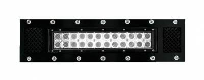 """T-REX Grilles - 2009-2014 F-150 Torch Bumper Grille, Black, 1 Pc, Bolt-On, Chrome Studs with (1) 12"""" LED - PN #6325681 - Image 2"""