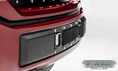 T-REX Grilles - 2018-2020 F-150 Limited, Lariat Torch Bumper Grille, Black, 1 Pc, Replacement, Chrome Studs with (2) 3 Inch LED Cube Lights - PN #6325791 - Image 5