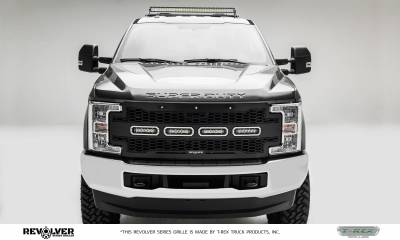 """T-REX Grilles - 2017-2019 Super Duty Revolver Grille, Black, 1 Pc, Replacement with (4) 6"""" LEDs, Does Not Fit Vehicles with Camera - PN #6515641 - Image 5"""