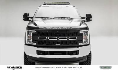 T-REX Grilles - 2017-2019 Super Duty Revolver Grille, Black, 1 Pc, Replacement, Fits Vehicles with Camera - PN #6515651 - Image 2