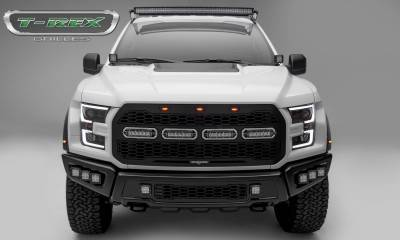 T-REX Grilles - 2017-2020 F-150 Raptor SVT Revolver Grille, Black, 1 Pc, Replacement with (4) 6 Inch LEDs, Does Not Fit Vehicles with Camera - PN #6515661 - Image 6