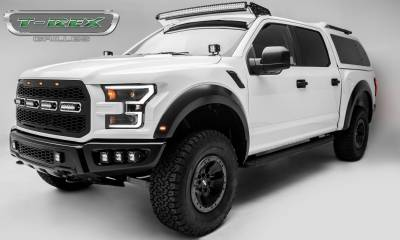 T-REX Grilles - 2017-2020 F-150 Raptor SVT Revolver Grille, Black, 1 Pc, Replacement with (4) 6 Inch LEDs, Does Not Fit Vehicles with Camera - PN #6515661 - Image 8