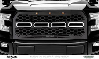T-REX Grilles - 2015-2017 F-150 Revolver Grille, Black, 1 Pc, Replacement, Does Not Fit Vehicles with Camera - PN #6515751 - Image 2