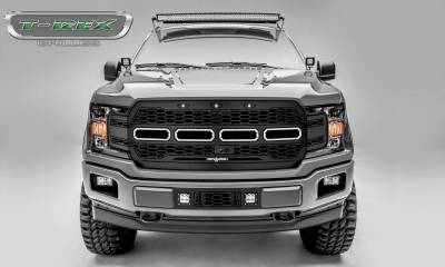 T-REX Grilles - 2018-2020 F-150 Revolver Grille, Black, 1 Pc, Replacement, Fits Vehicles with Camera - PN #6515781 - Image 1