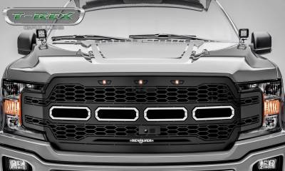 T-REX Grilles - 2018-2020 F-150 Revolver Grille, Black, 1 Pc, Replacement, Fits Vehicles with Camera - PN #6515781 - Image 2