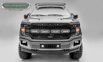 T-REX Grilles - 2018-2020 F-150 Revolver Grille, Black, 1 Pc, Replacement with (4) 6 Inch LEDs, Fits Vehicles with Camera - PN #6515791 - Image 1