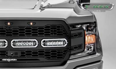 T-REX Grilles - 2018-2020 F-150 Revolver Grille, Black, 1 Pc, Replacement with (4) 6 Inch LEDs, Fits Vehicles with Camera - PN #6515791 - Image 3